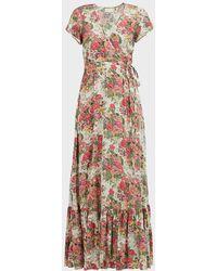 Auguste Provence Faux Wrap Maxi Dress - Multicolor