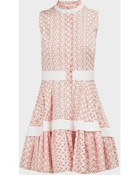 Alexis Suriya Embroidered Mini Dress - Pink