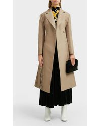 Proenza Schouler Chenille Embroidered Long Coat - Natural