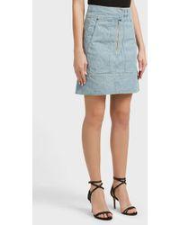 Isabel Marant - Natalia Denim Skirt, Size Fr34, Women, Blue - Lyst