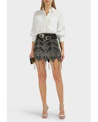 The Attico Beaded Skirt - Black