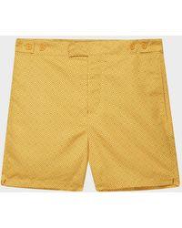 Frescobol Carioca Angra Tailored Swim Shorts - Yellow