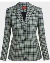Altuzarra Fenice Checked Wool-blend Blazer - Multicolour