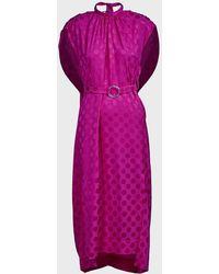Eudon Choi Grace Polka-dot Crepe Dress - Pink