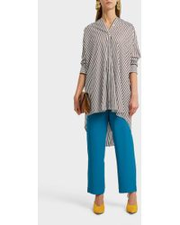 Erika Cavallini Semi Couture - Oversized Striped Cotton Shirt - Lyst