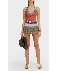 Missoni V-neck Zigzag Playsuit - Multicolor
