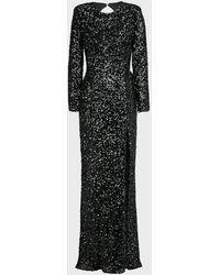 Bronx and Banco Elizabeth Sequin Gown - Black