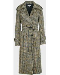 Victoria Beckham Checked Virgin Wool-blend Coat - Multicolour