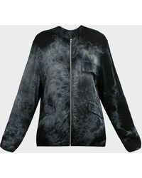 Electric and Rose Reva Tie-dye Cargo Jacket - Black