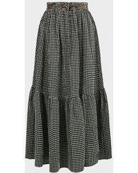Missoni Gingham Maxi Skirt - Black