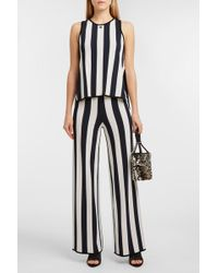 Courreges - Striped Stretch-knit Wide-leg Trousers, 1 - Lyst