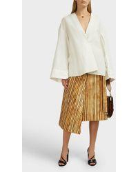 Awake Martina Bamboo-print Skirt - Multicolour