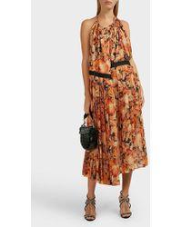 Y. Project Open-back Floral Midi Dress - Multicolor