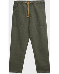 Nanushka Nova Linen Trousers - Green
