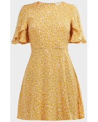 Auguste Dean Goldie Mini Dress - Yellow