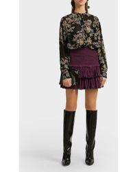 Étoile Isabel Marant Naomi Tiered Cotton Mini Skirt - Purple
