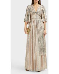 Peter Pilotto Metallic Striped Chiffon Gown