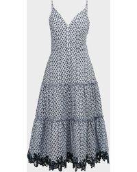 10 Crosby Derek Lam Samaria Cotton Camisole Dress - Blue