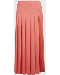 JOSEPH Sallis Pleated Wool-blend Skirt - Pink