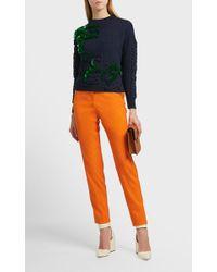 Delpozo Sequin Braided Cotton Sweater - Multicolor