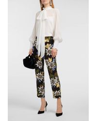 Erdem Isabelle Pussy-bow Silk-chiffon Top - White