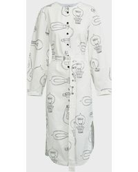 Tibi Lumiere Printed Belted Shirtdress - Multicolor