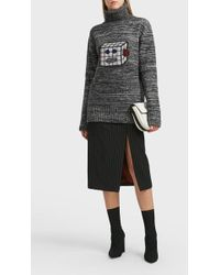 ALEXACHUNG - Robot Face Wool Jumper, Size M, Women - Lyst