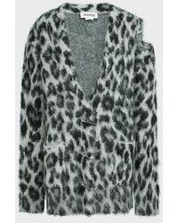 Monse Cheetah-print Mohair-blend Cardigan - Multicolour
