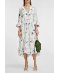 Borgo De Nor Iris High-low Maxi Dress - Blue