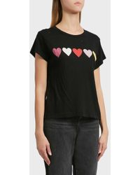 Wildfox - Open Hearts Cotton T-shirt - Lyst