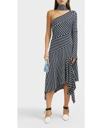 Monse - Asymmetrical Chevron Jersey Dress - Lyst