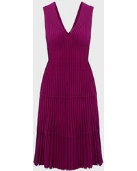 Altuzarra Riggs Rib-knit Jacquard Dress - Purple