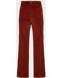 Paul & Joe Westy Corduroy Pants - Red