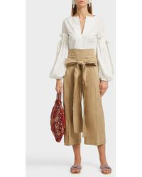 Silvia Tcherassi Salve Cropped Stretch-cotton Wide-leg Trousers - Multicolour