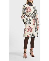 Isabel Marant Cotton Lesit Coat - Multicolour
