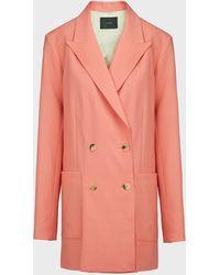 JOSEPH Josie Wool-blend Blazer - Pink