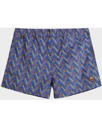 Missoni Printed Swim Shorts - Blue