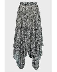 Isabel Marant Alena Zebra-print Georgette Skirt - Multicolour
