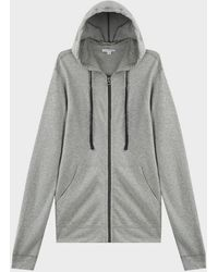 James Perse Vintage Fleece Zip-up Jacket - Grey