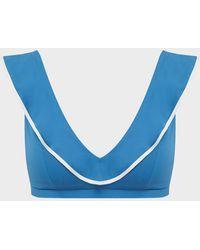 Marysia Swim Piana Ruffle Bikini Top - Blue