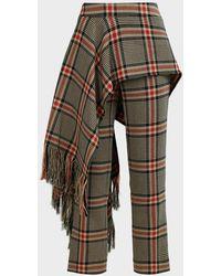 Monse Apron Plaid Cotton-blend Pants - Multicolor