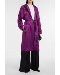 Peter Pilotto - Satin-jacquard Trench Coat - Lyst
