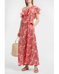 Lisa Marie Fernandez - Arden One-shoulder Floral-print Linen Dress - Lyst