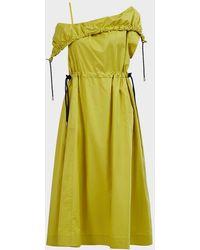 3.1 Phillip Lim One-shoulder Parachute Dress - Green
