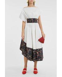 Rosie Assoulin Printed Stretch-cotton Midi Dress - Multicolour