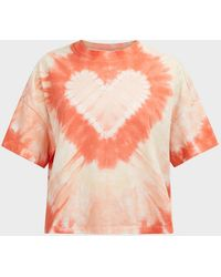 Electric and Rose Love Tie-dye Cotton T-shirt - Pink