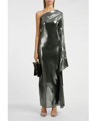 Paula Knorr - One-shoulder Lamé Maxi Dress - Lyst