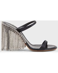 Area Crystal-trimmed Leather Sandals - Multicolour