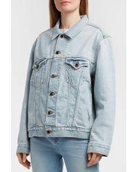 Khaite - Cate Oversized Denim Jacket, Size Xs/s, Women, Navy - Lyst