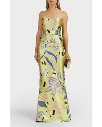 Leal Daccarett La Doña Floral Strapless Gown - Black
